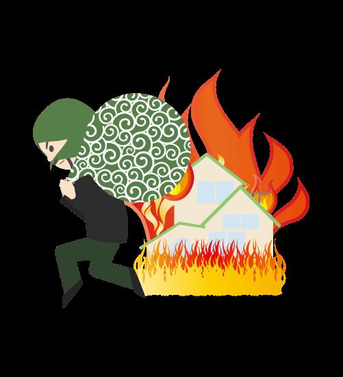 火事場泥棒のイラスト