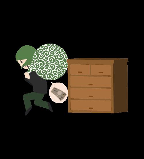 空き巣泥棒のイラスト3