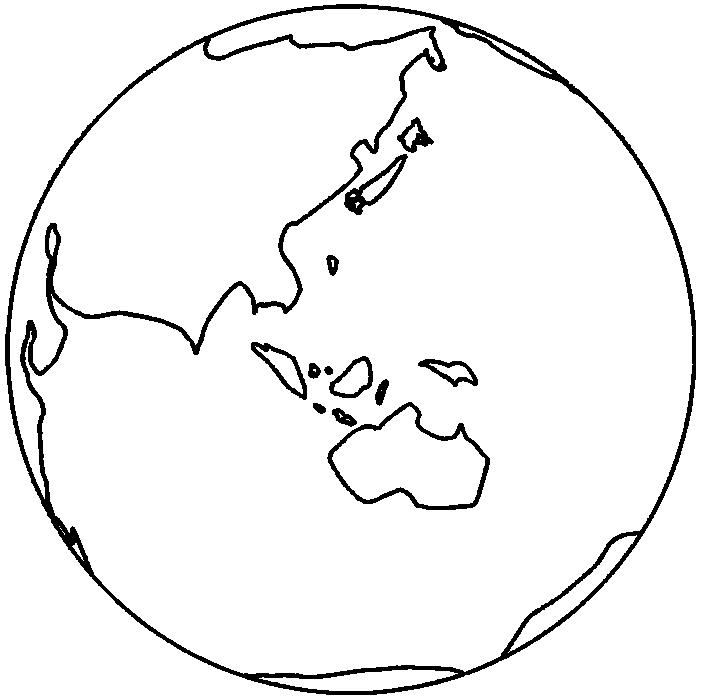 線画の地球のイラスト