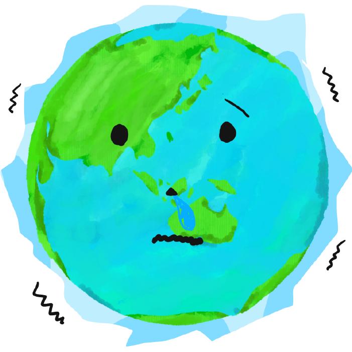 氷河期の地球のイラスト
