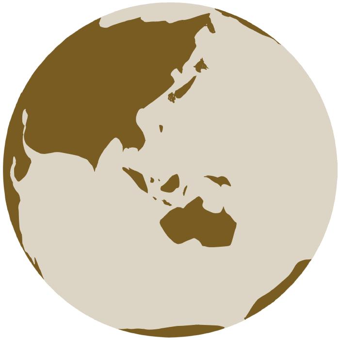 茶色い地球のイラスト