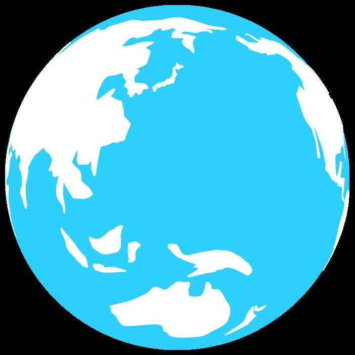 青い地球のイラスト
