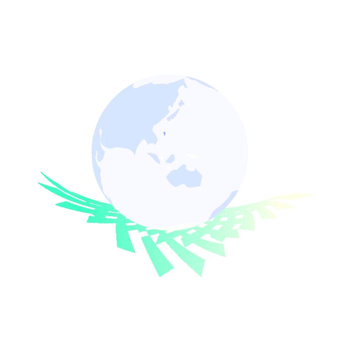 アートな地球のイラスト