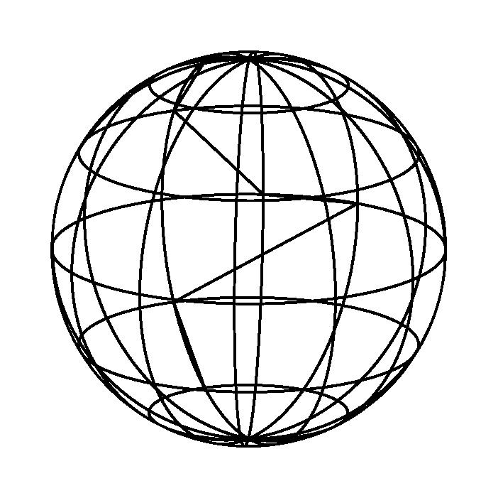線の地球アイコンイラスト