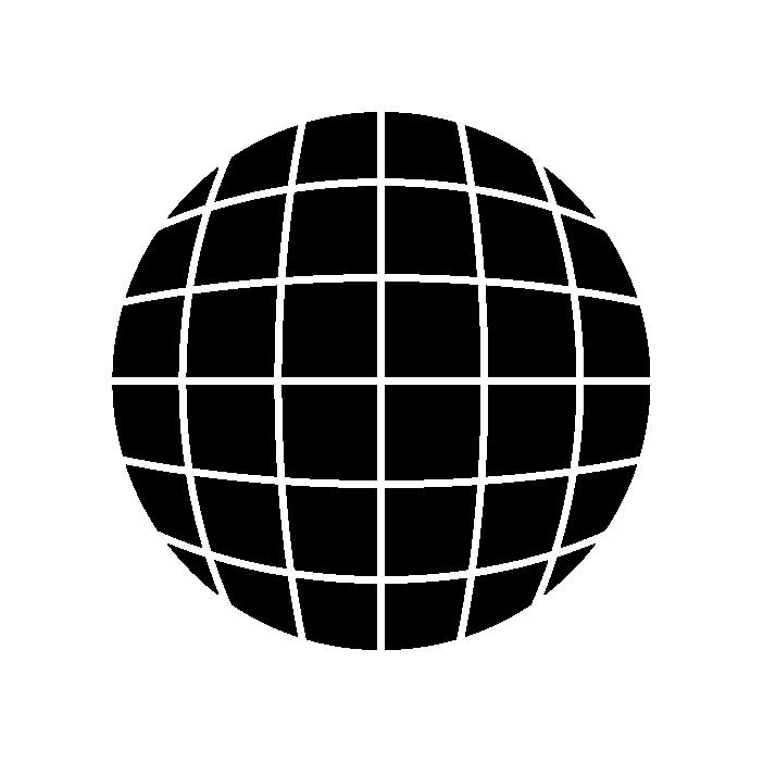 地球アイコンイラスト(黒)