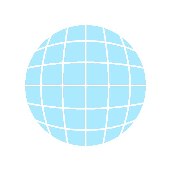 地球アイコンイラスト(水色)