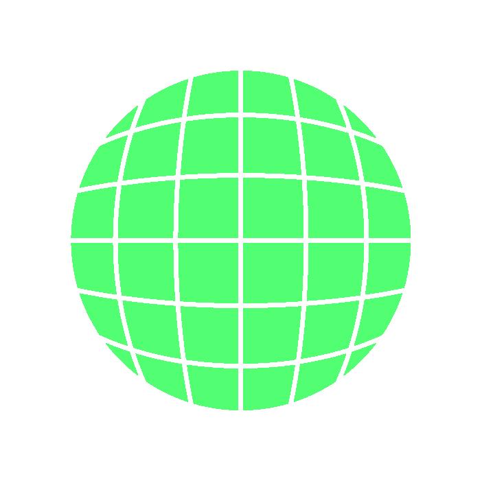 地球アイコンイラスト(緑)