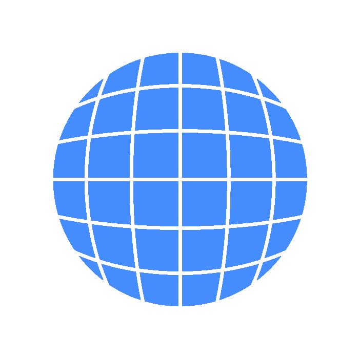 地球アイコンイラスト(青)