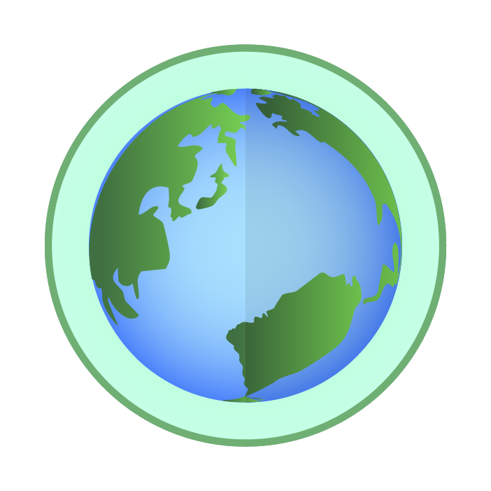 かっこいい地球アイコンイラスト