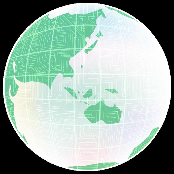 メカニカルな地球のイラスト