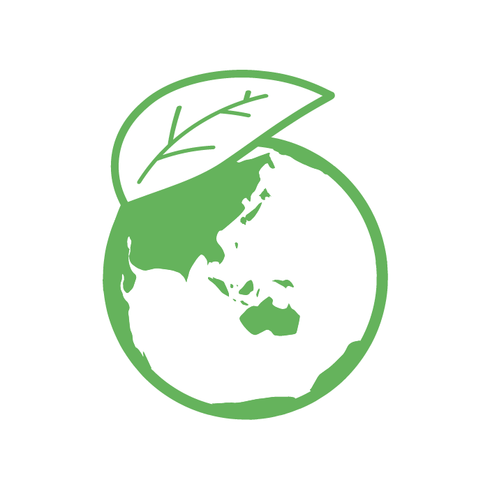 新芽の地球のイラスト