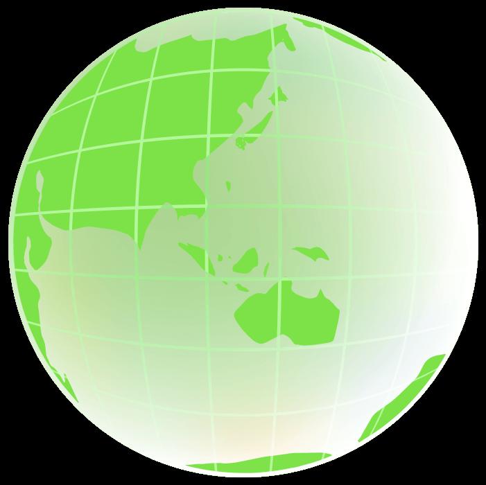 線の入った地球のイラスト