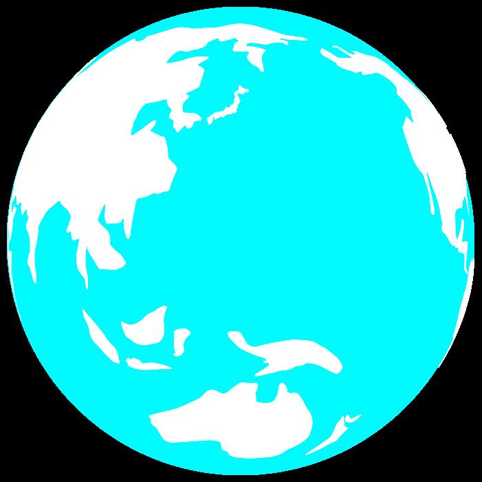 水色の地球のイラスト