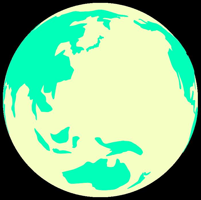 黄色い地球のイラスト