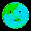 手書きの地球のイラスト