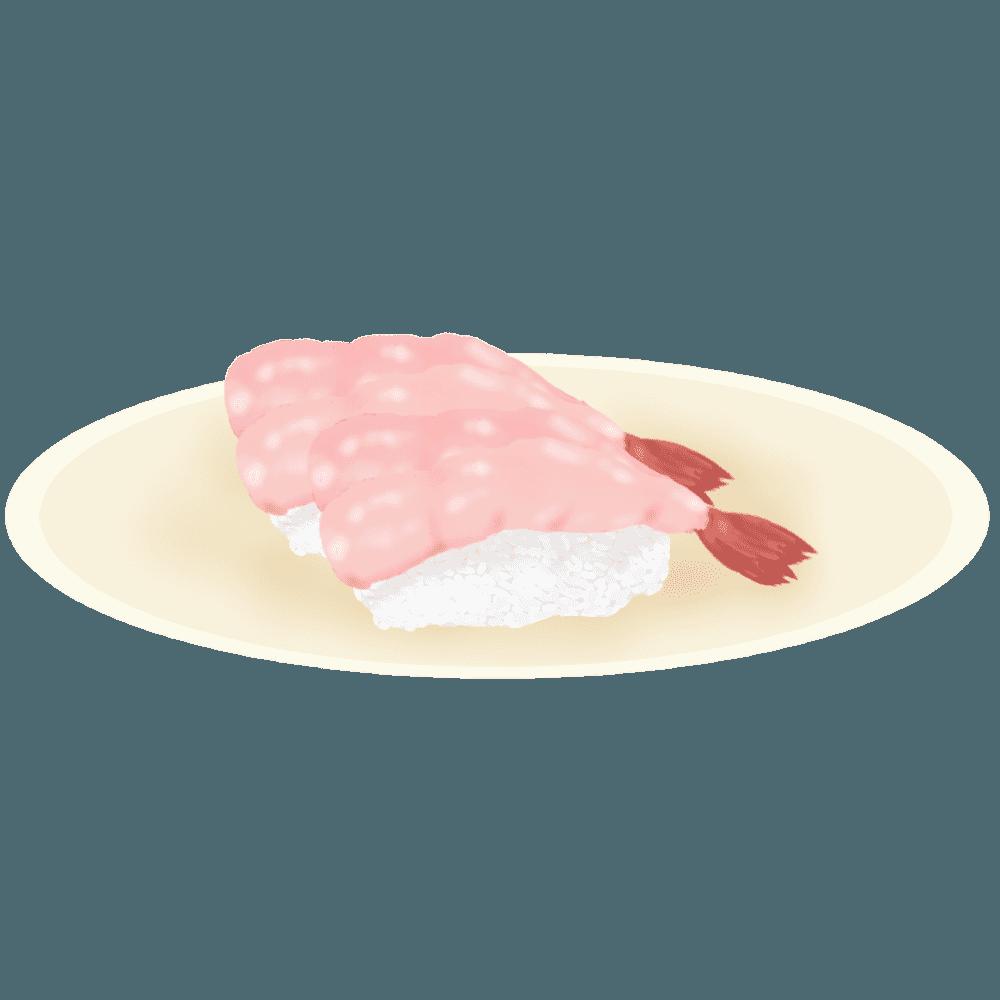エビのお寿司のイラスト