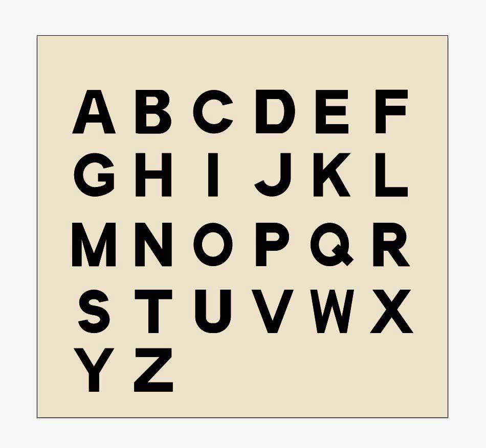 ノーマルローマ字太字フォントベクター素材