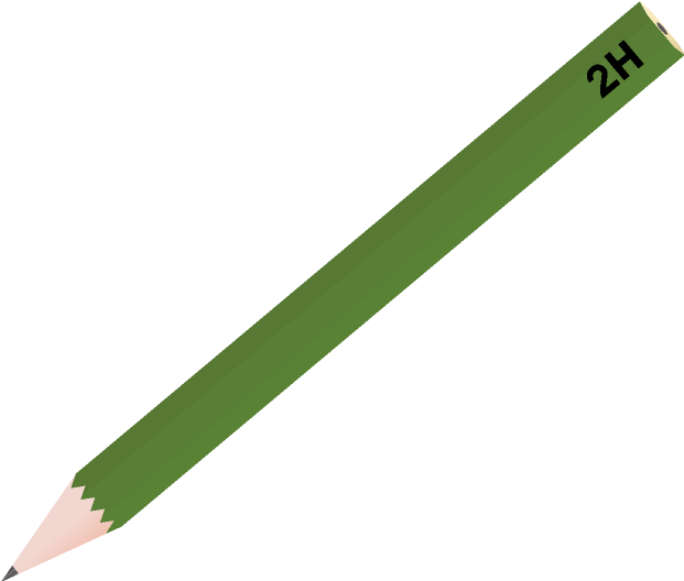 鉛筆のイラスト(2H)