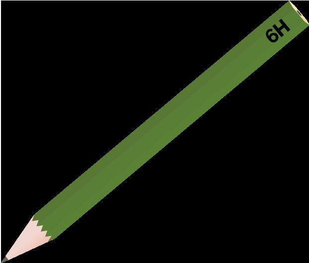 鉛筆のイラスト(6H)