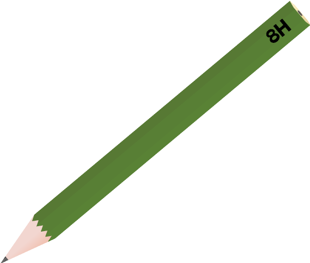 鉛筆のイラスト(8H)