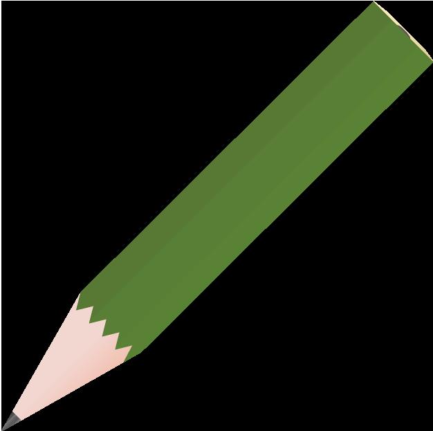 短い鉛筆のイラスト