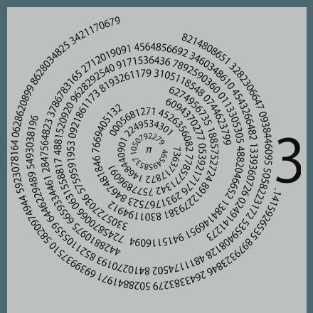 3.14円周率Tシャツ★数字の羅列のお洒落なデザインTシャツ
