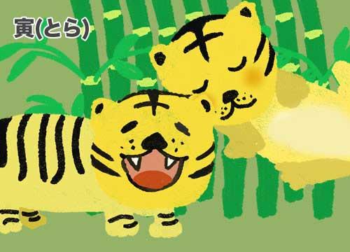 寅(とら)虎のイラスト