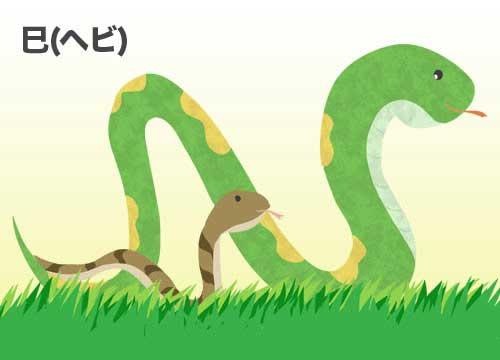 巳(ヘビ)蛇のイラスト