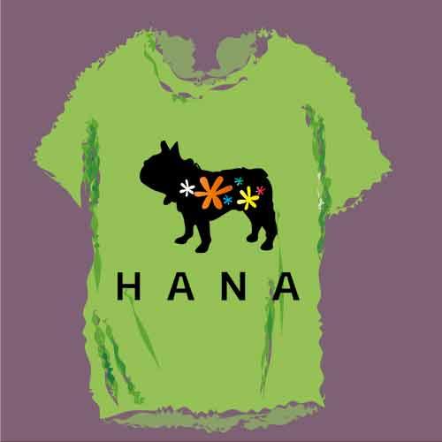 フレンチブルドッグ ハナちゃんTシャツ