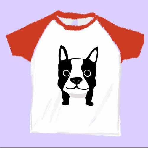 可愛いフレンチブルドッグのイラストTシャツ