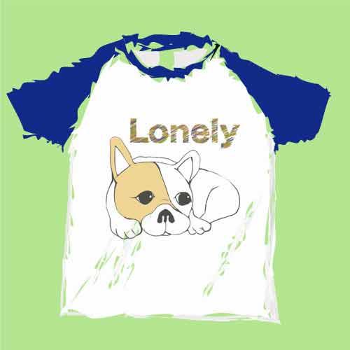 ロンリーフレンチブルドッグTシャツ