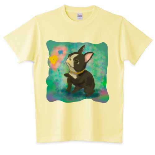 水彩で描いた可愛いフレンチブルドッグTシャツ
