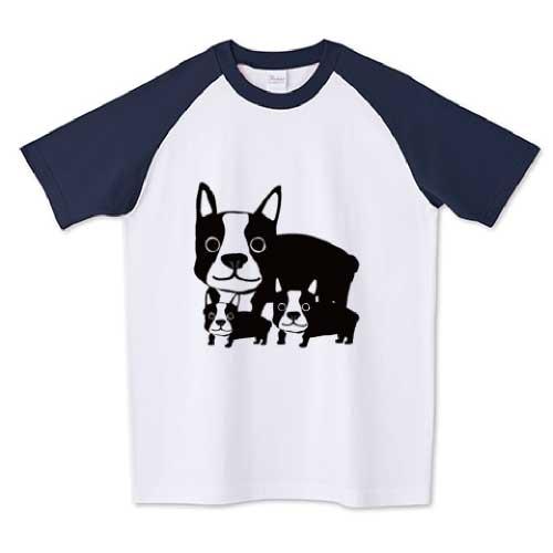 可愛いフレブル親子のイラストTシャツ