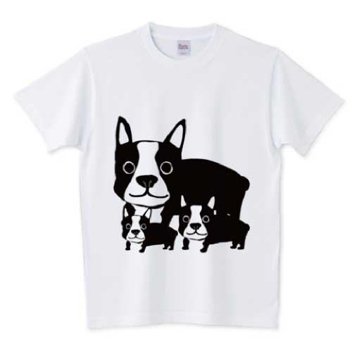 可愛い親子のフレンチブルドッグTシャツ