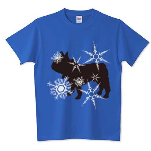 銀河フレンチブルドッグTシャツ