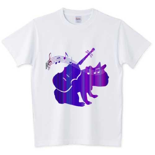 バイオリンフレンチブルドッグTシャツ