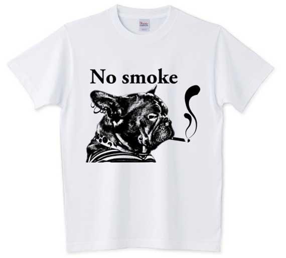 NO smokeフレンチブルドッグTシャツ