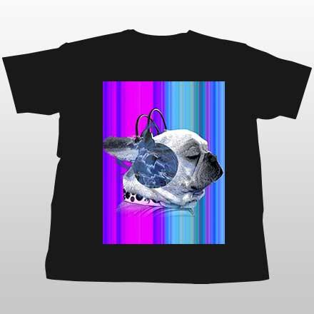 グラデフレンチブルドッグTシャツ