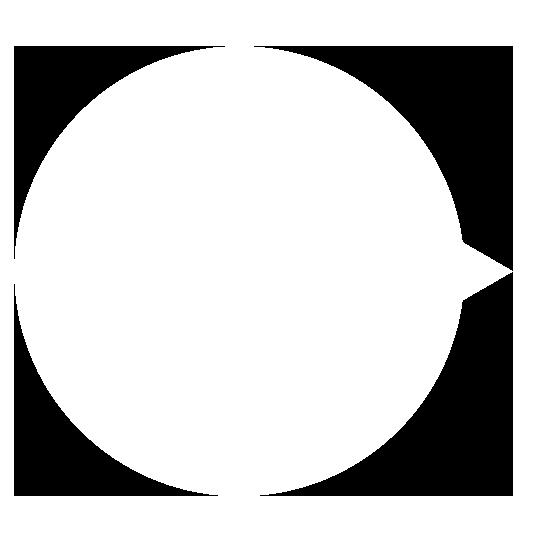 正円の吹き出し右