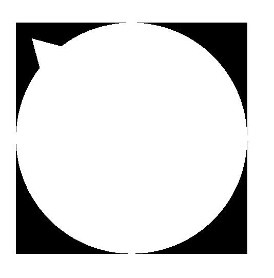 正円の吹き出し左上