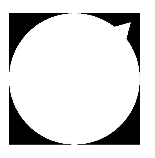 正円の吹き出し右上