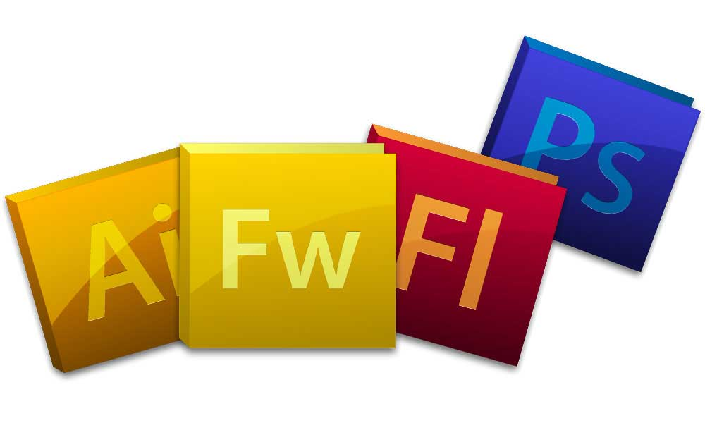 アドビイラストレーター、ファイアーワークス、フラッシュ、フォトショップアイコン
