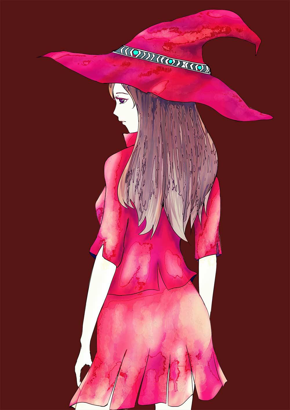 赤い魔女の旅立ち foolのイラスト