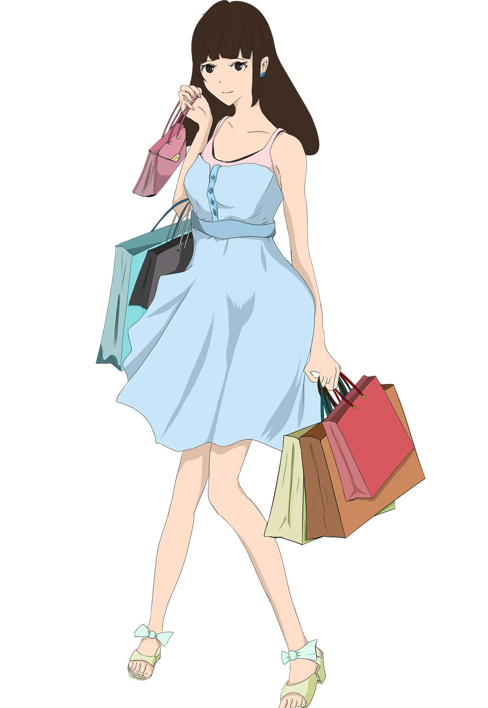 ショッピング中の女の子 - foolのイラスト