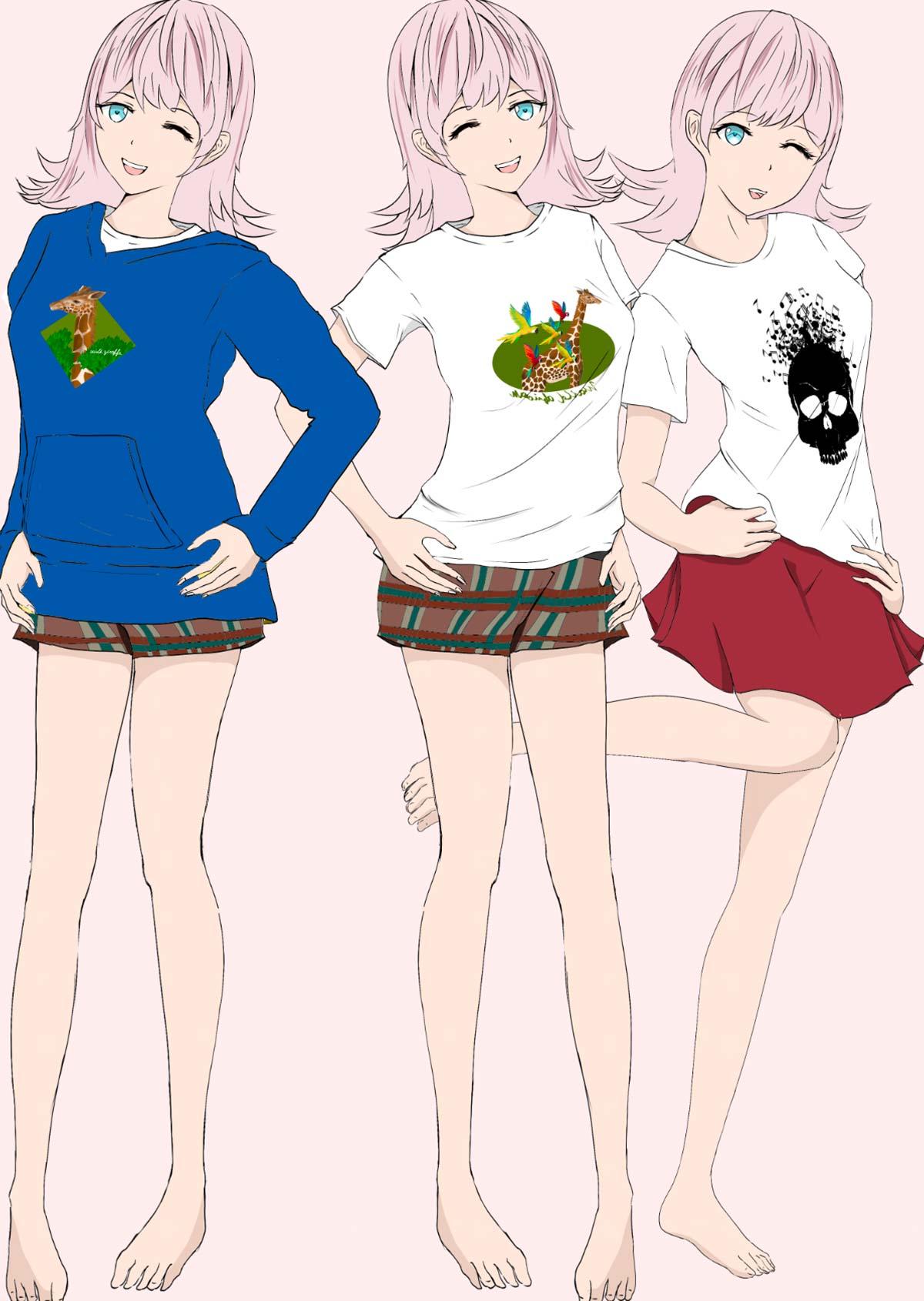 Tシャツモデル - foolのイラスト