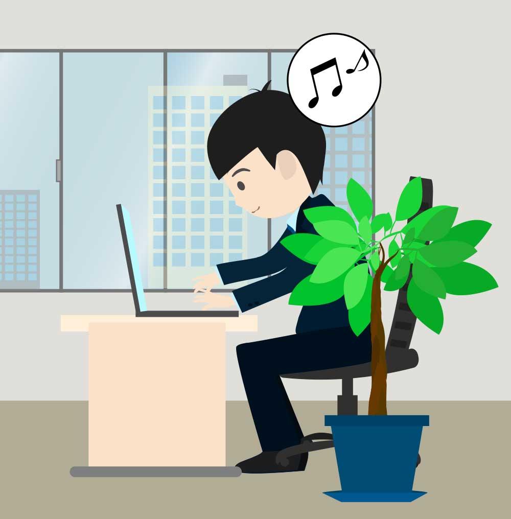 オフィスのビジネスマンのイラスト