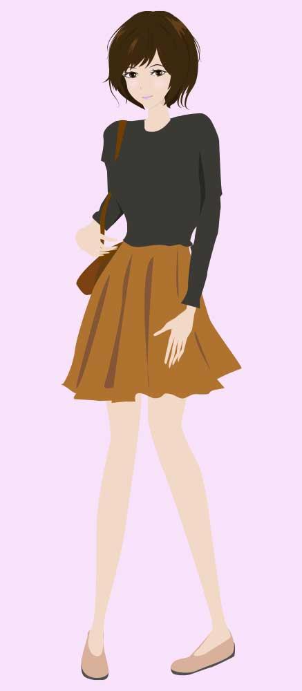ファッションイラスト(女性)1