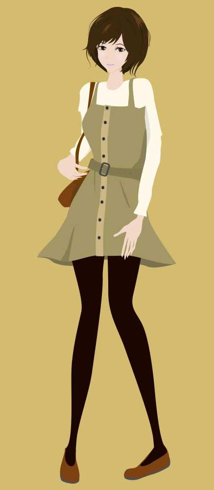 ファッションイラスト(女性)2