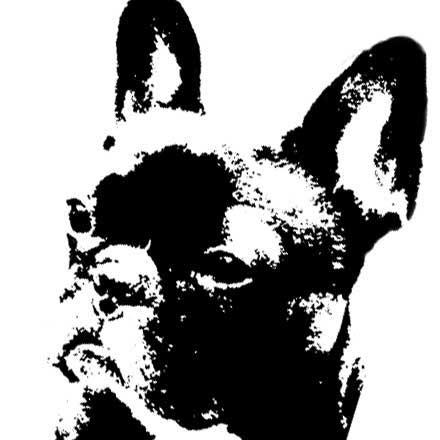 フレンチブルドッグのハナ版画&ハートTシャツ