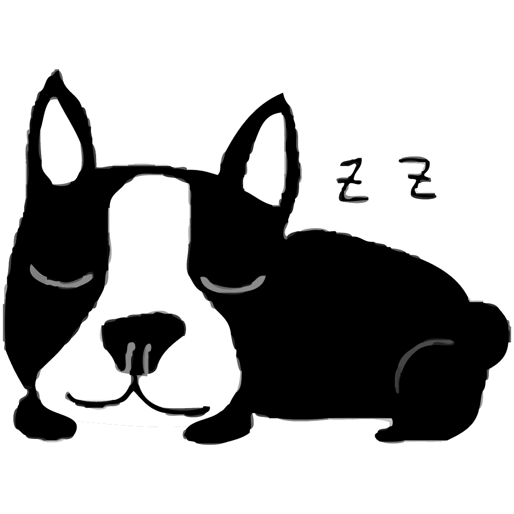 寝るフレンチブルドッグイラスト